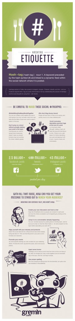Infographic Hashtag Etiquette