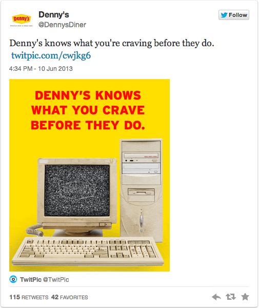 Denny's NSA Tweet